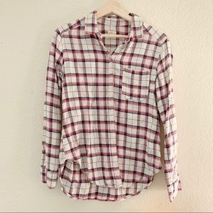 HOLLISTER PINK PLAID SHIRT TOP (0885)